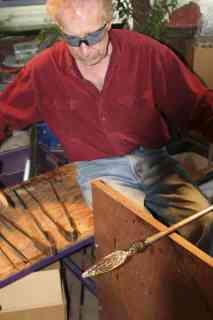 BJ at the Gaffer's Bench