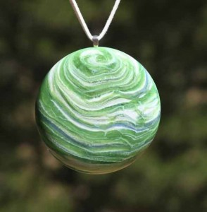 Uranus Blown Glass Pendant Necklace