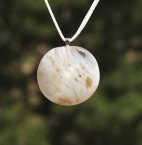 Venus Blown Glass Pendant Necklace