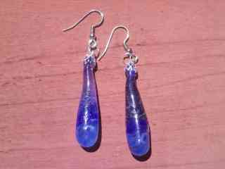 Blue Drip Earrings