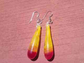Yellow Drip Earrings