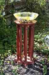 Baptismal Font with Yellow Sun Splash Bowl