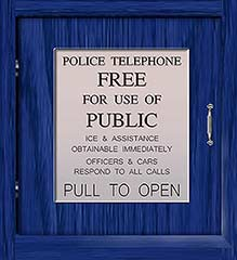 Police Box Telephone Door